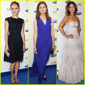 AnnaSophia Robb & Bonnie Wright Step Out for Samsung's Hope For Children Gala 2014