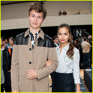 Ansel Elgort & Girlfriend Violetta Komyshan Hit the Dior Show in Paris