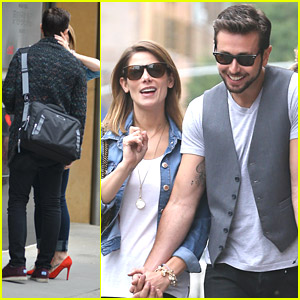 Ashley Greene Grabs A Kiss From Paul Khoury After Coffee