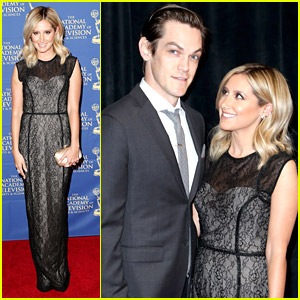 Ashley Tisdale & Christopher French Dress To The Nines for Daytime Emmys Gala 2014
