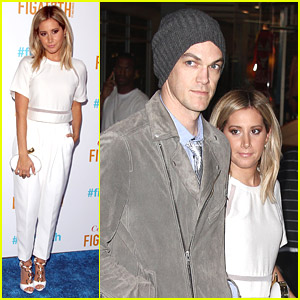 Ashley Tisdale & Christopher French Celebrate FIGat7th 2014