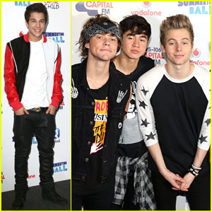 Austin Mahone & 5 Seconds of Summer Have a Ball at Wembley!