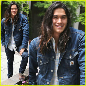 Booboo Stewart Takes a Quick Break from 'The Descendants' Filming!