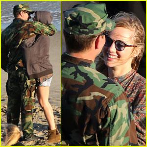 Suki Waterhouse Visits Boyfriend Bradley Cooper on Set & Can't Stop Kissing Him!