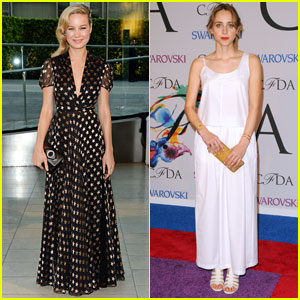 Brie Larson & Zoe Kazan Get Dolled up for CFDA Fashion Awards 2014