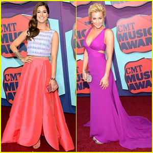 Cassadee Pope & Kellie Pickler Give Us a Splash of Color at CMT Music Awards 2014!