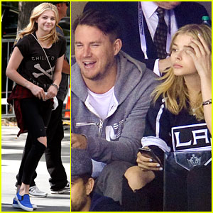 Chloe Moretz Sits Next to Channing Tatum at Kings Game!