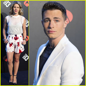 Colton Haynes & Emily Bett Rickards are Best Buddies During 'Arrow' Promo in Madrid!