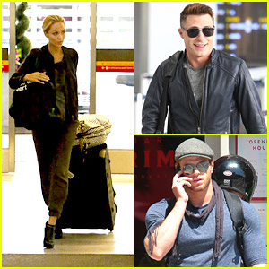 Laura Vandervoort & Colton Haynes Return to Los Angeles After MuchMusic Video Awards