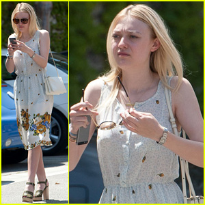Dakota Fanning Shows Up in Hollywood After PDA-Filled Week with Jamie Strachan in NYC