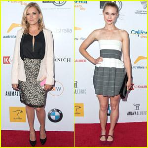 Eliza Taylor & Lucy Fry Celebrate Australians In Film's Heath Ledger Scholarship Dinner