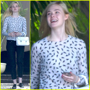 Elle Fanning Stops by Chateau Marmont for Second Day in a Row
