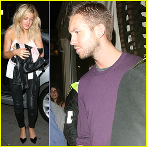 Ellie Goulding & Calvin Harris Share Taxi After London Night Out