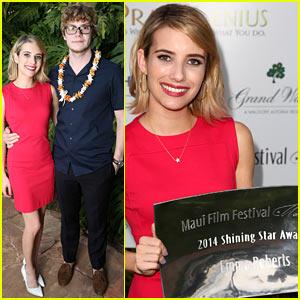 Emma Roberts Receives Maui Film Festival Shining Star Award!