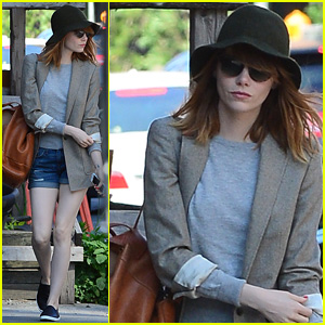 Emma Stone Takes an Early Morning Stroll in SoHo