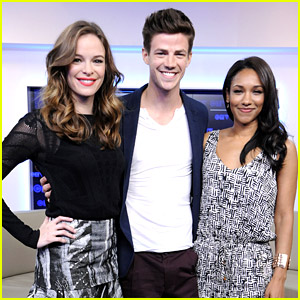 Grant Gustin & Danielle Panabaker Head To Toronto For 'A Flash'
