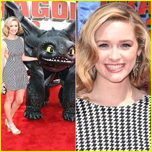 Greer Grammer Walks Red Carpet with 'How To Train Your Dragon 2's Toothless!