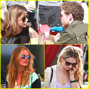 Jenna Coleman & Richard Madden Enjoy Glastonbury Festival with Cressida Bonas & More