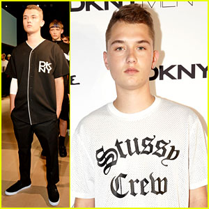 Jude Law's Son Rafferty Makes His Modeling Debut at DKNY Men Show!