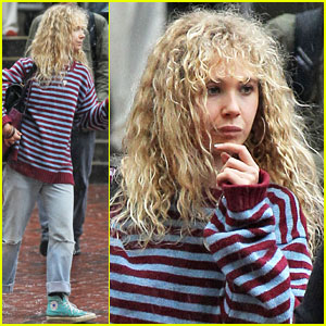Juno Temple Braves the Rainy Day to Begin Filming 'Black Mass'!