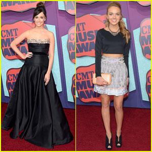 Kacey Musgraves & Danielle Bradbery Make Their CMT Awards 2014 Entrances!