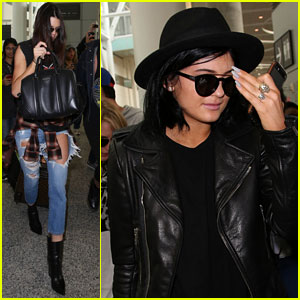 Kendall & Kylie Jenner Arrive in Toronto to Host the MuchMusic Video Awards!