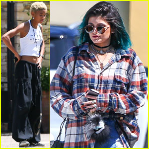 Kylie Jenner Runs into Jaden & Willow Smith at Calabasas Commons!