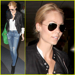 Laura Vandervoort Gets to 'Work' After Returning Home to LA!