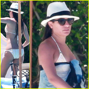 Lea Michele Rocks Tiny Bikini While Vacationing in Cabo with Friends!