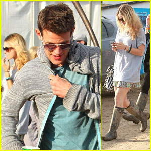 Lily James & Matt Smith Keep Their Love Low at Glastonbury Festival
