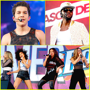 Little Mix, Austin Mahone & Jason Derulo Sizzle Up B96 Pepsi Summerbash in Chicago