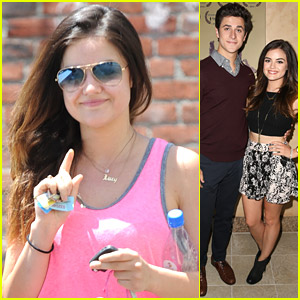 Lucy Hale Supports David Henrie at 'Catch' Screening
