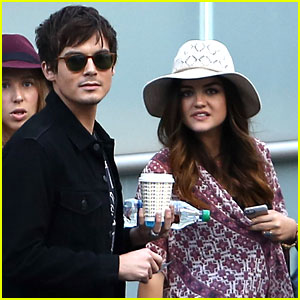 Lucy Hale Hits the Ed Sheeran & Demi Lovato Concert with Tyler Blackburn!