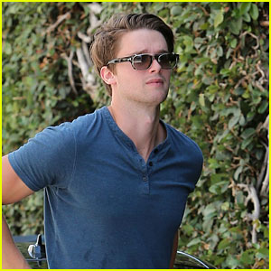 Patrick Schwarzenegger Looks Handsome in Blue in LA!