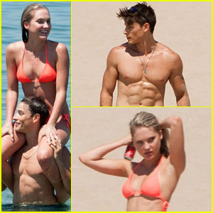 Andrew Gray & Ciara Hanna Get Silly at the Beach Together!