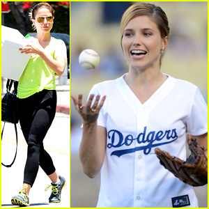 Sophia Bush Throws Perfect First Pitch at L.A. Dodgers Game! (Video)