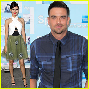 Victoria Justice Gets Dressy for 'Spent: Looking for Change' Premiere with Mark Salling
