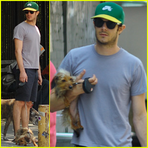 Adam Brody Holding Leighton Meester's Pup Trudy is the Cutest Thing You'll See Today