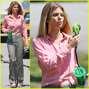AnnaLynne McCord Fans Herself Off While Filming 'Photographs'