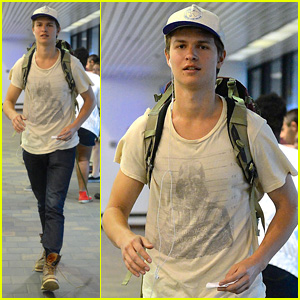 Ansel Elgort Flies Out of NYC, While 'TFIOS' Bench is Reinstalled in Amsterdam!