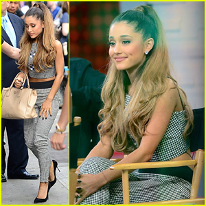Ariana Grande Appears on 'GMA' After Losing Her Grandfather (Video)