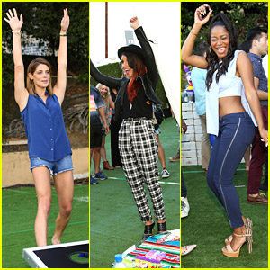 Ashley Greene, Shenae Grimes & Keke Palmer Party It Up at JJ's Summer Fiesta!