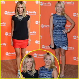 Ashley Tisdale & Emily Osment Buddy Up for 'Young & Hungry' TCA Panel