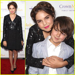 Bailee Madison & Max Charles Celebrate 'Northpole' at Hallmark's TCA Party 2014