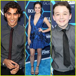 Blake Michael, Hayley Orrantia, & Benjamin Stockham Blast into Young Hollywood Awards 2014