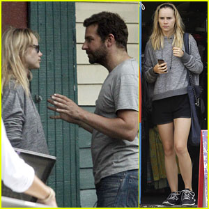 Suki Waterhouse Visits Boyfriend Bradley Cooper on His Movie Set!