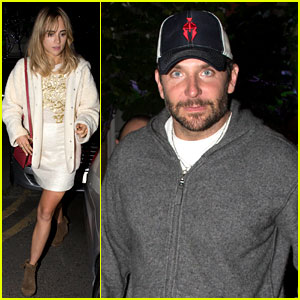 Suki Waterhouse Dines Out with Boyfriend Bradley Cooper & Friends!
