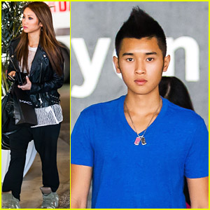 Brenda Song Goes Shopping with Mom Mai & Brother Nathan