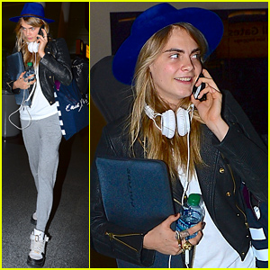 Cara Delevingne Looks Like She's Ready & Prepped for a Long Flight!