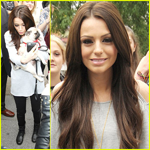 Cher Lloyd Poses For Pug Pictures Outside ITV Studios